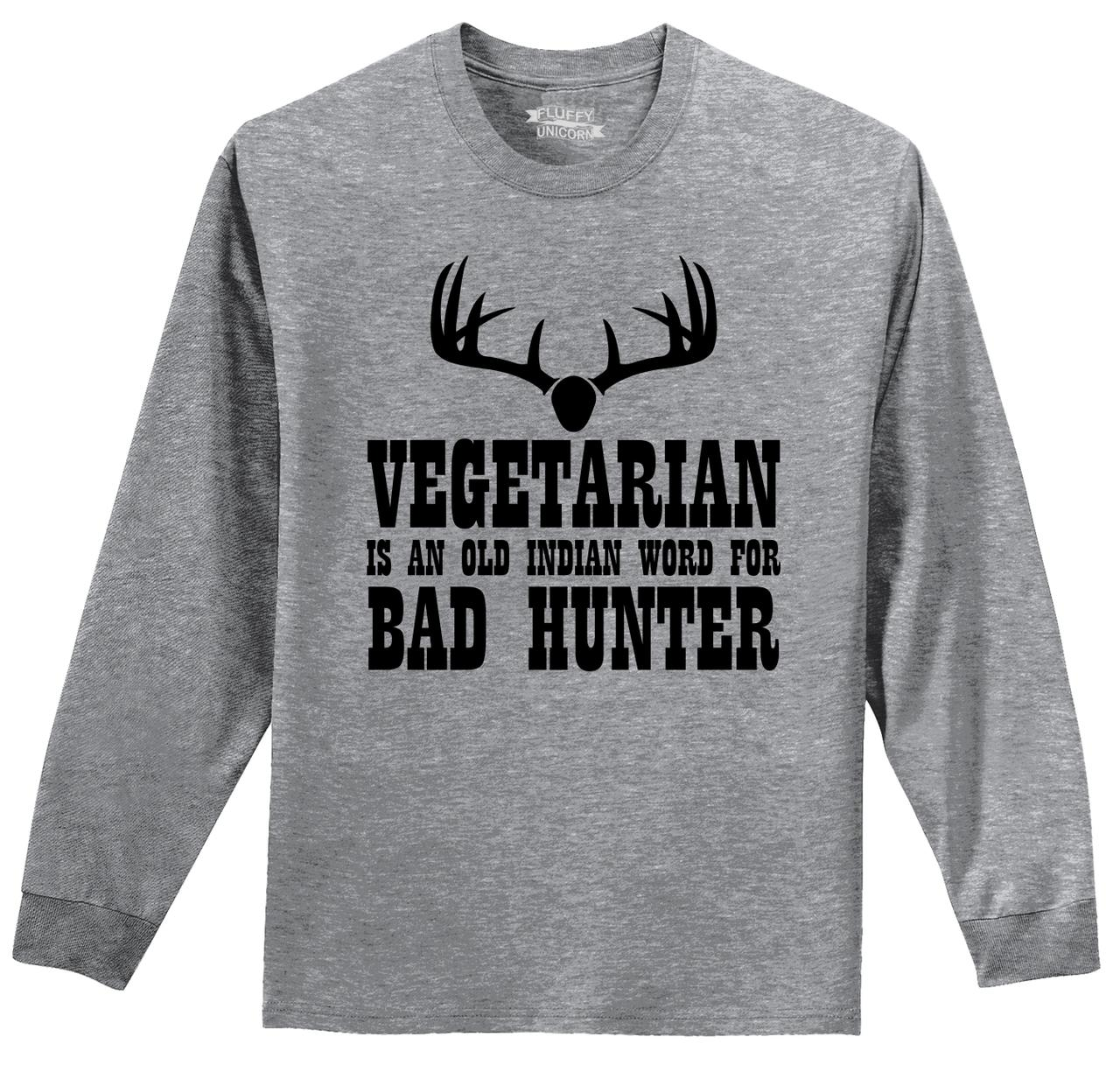 979cec94 ... One Word Funny T Shirts: Vegetarian Indian Word Bad Hunter Funny L/S T  Shirt