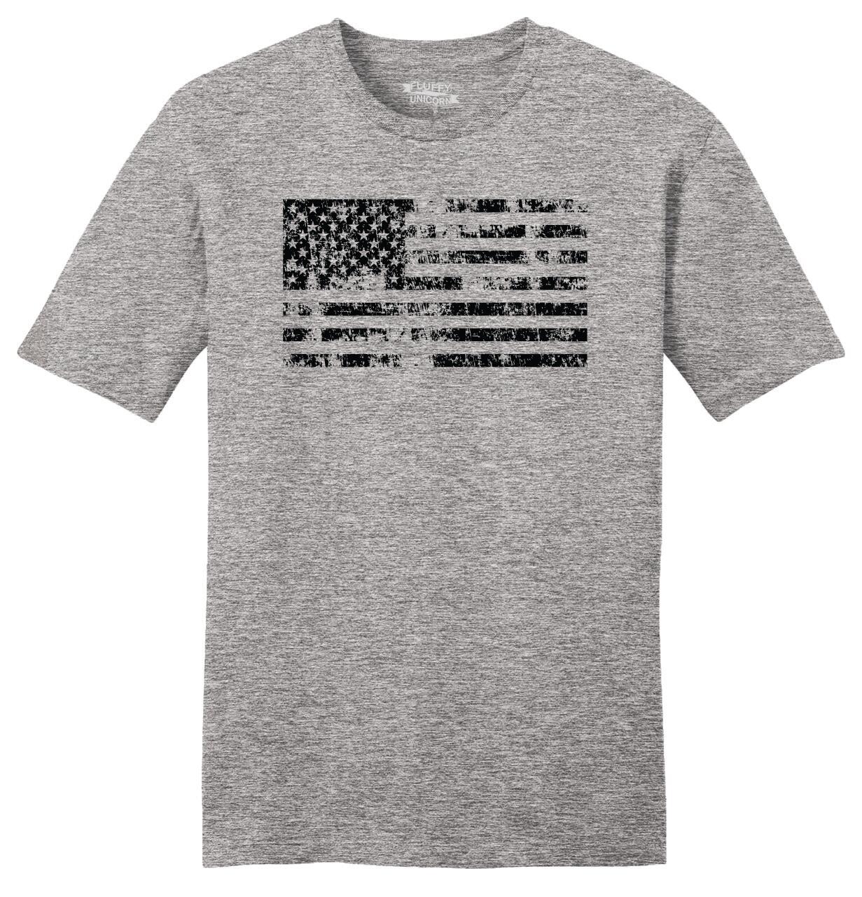 Distressed-American-Flag-Mens-Soft-T-Shirt-American-Pride-USA-July-4th-Tee-Z2 miniature 11
