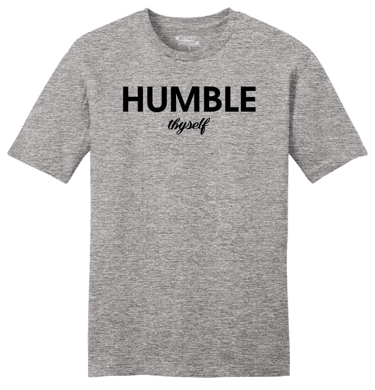 Humble-Thyself-Mens-Soft-T-Shirt-Religious-Inspirational-Yogi-Gift-Tee-Shirt-Z2 thumbnail 12