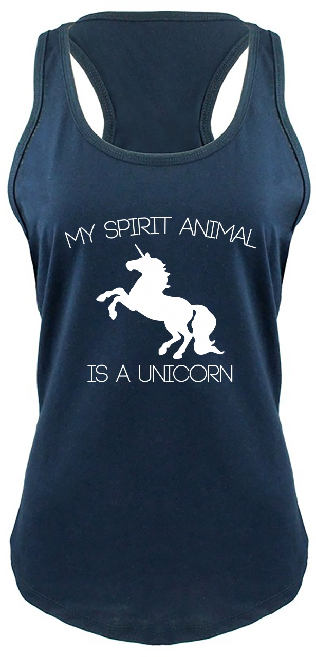 My-Spirit-Animal-Is-A-Unicorn-Funny-Ladies-Tank-Top-Unicorn-Lover-Gift-Tank-Z6 thumbnail 14