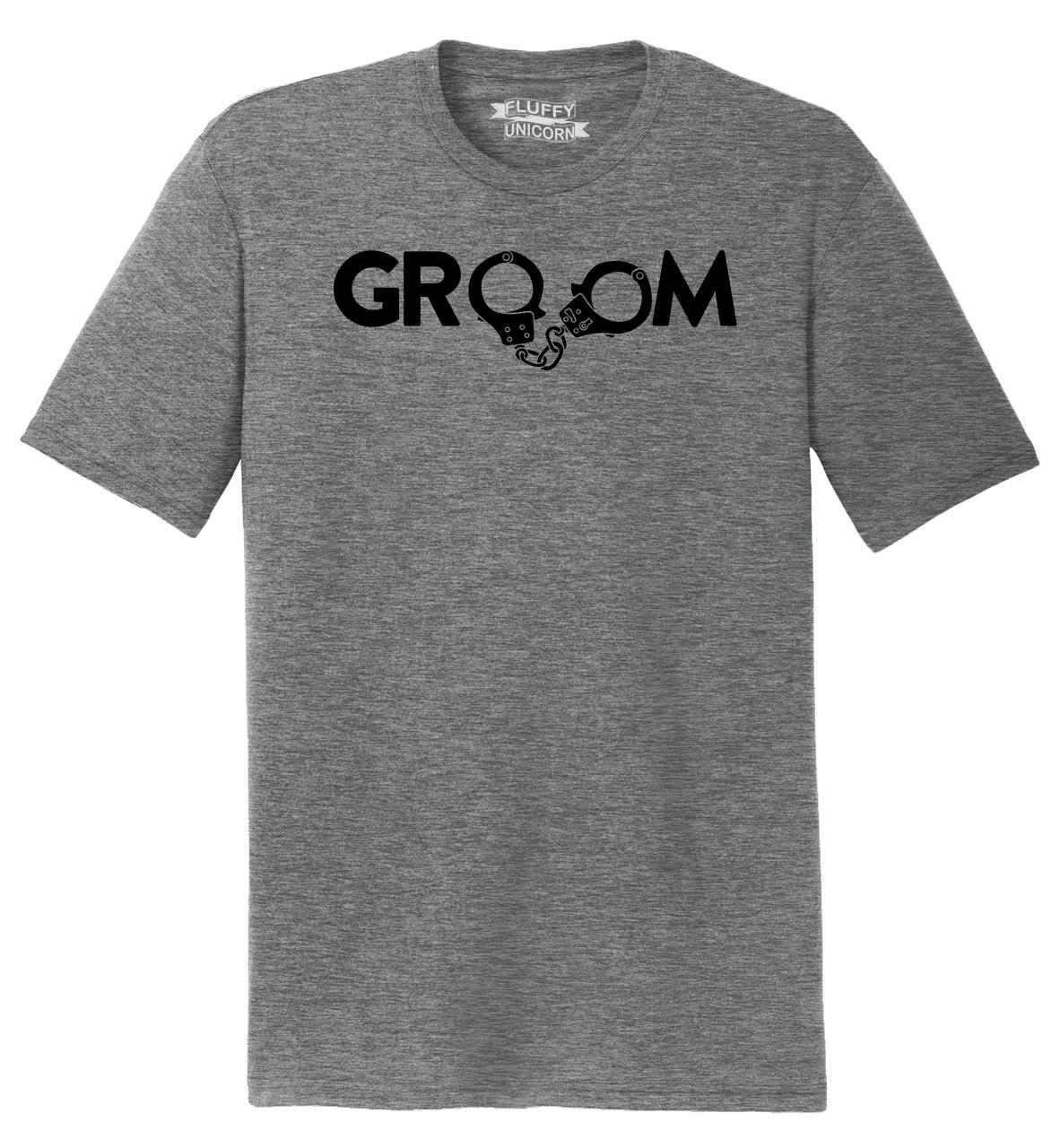 Funny Wedding Gifts For Groom: Mens Groom Handcuffs Funny Marriage Wedding Gift Shirt Tri