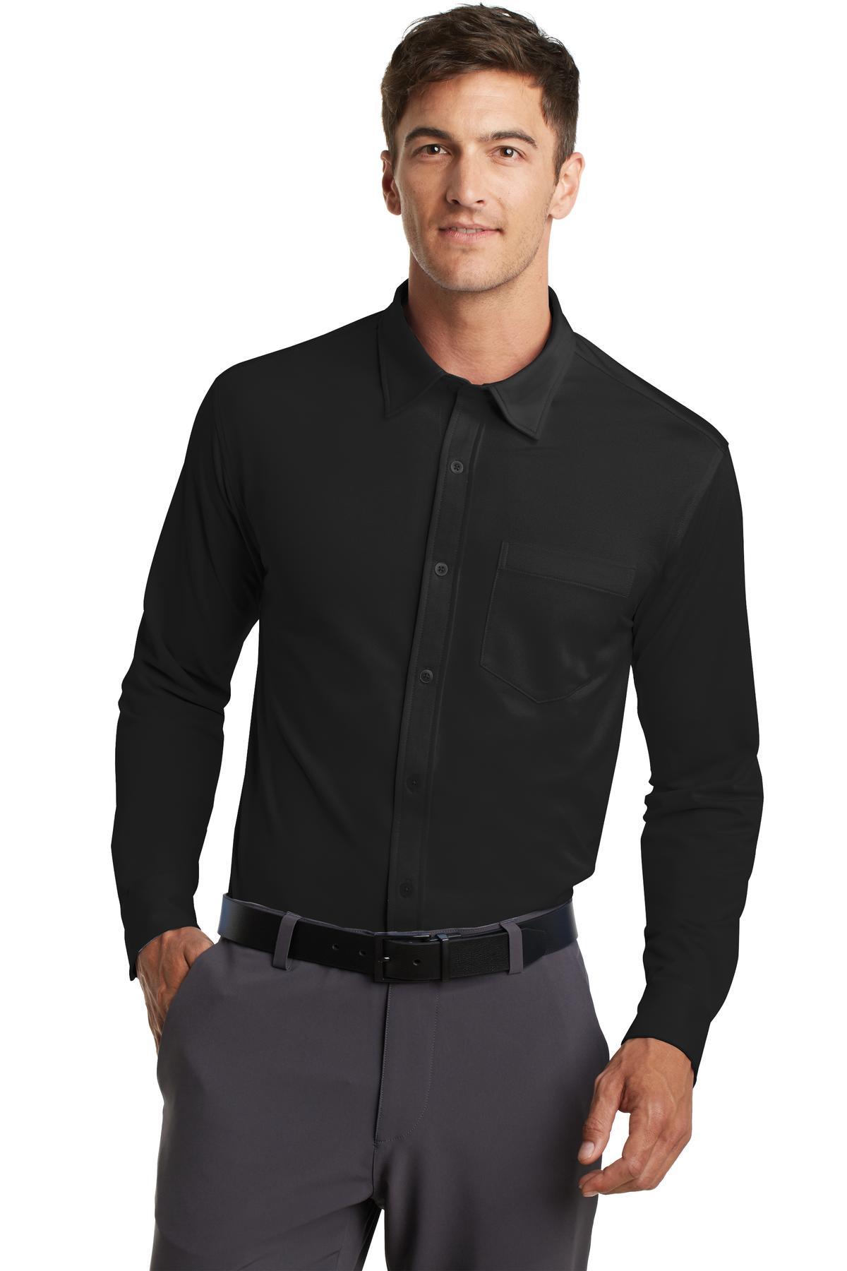 Port Authority Dimension Knit Dress Shirt Mens Oxford
