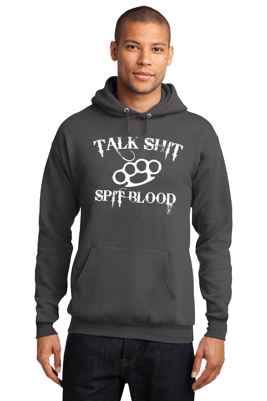 Mens-Talk-S-t-Spit-Blood-Hoodie-Gangster-Rap-Music-Movie-Sweatshirt thumbnail 7