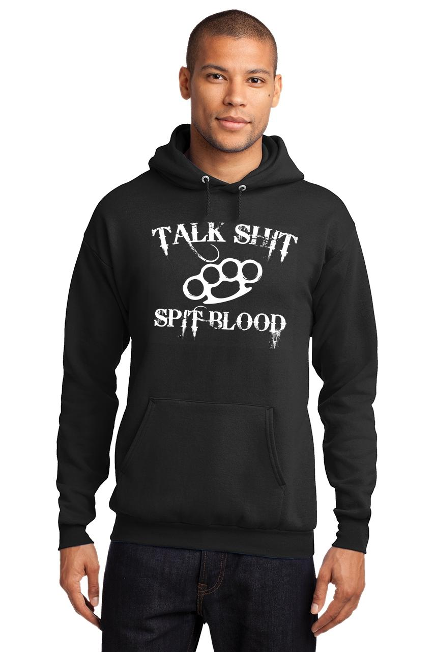 Mens-Talk-S-t-Spit-Blood-Hoodie-Gangster-Rap-Music-Movie-Sweatshirt thumbnail 4