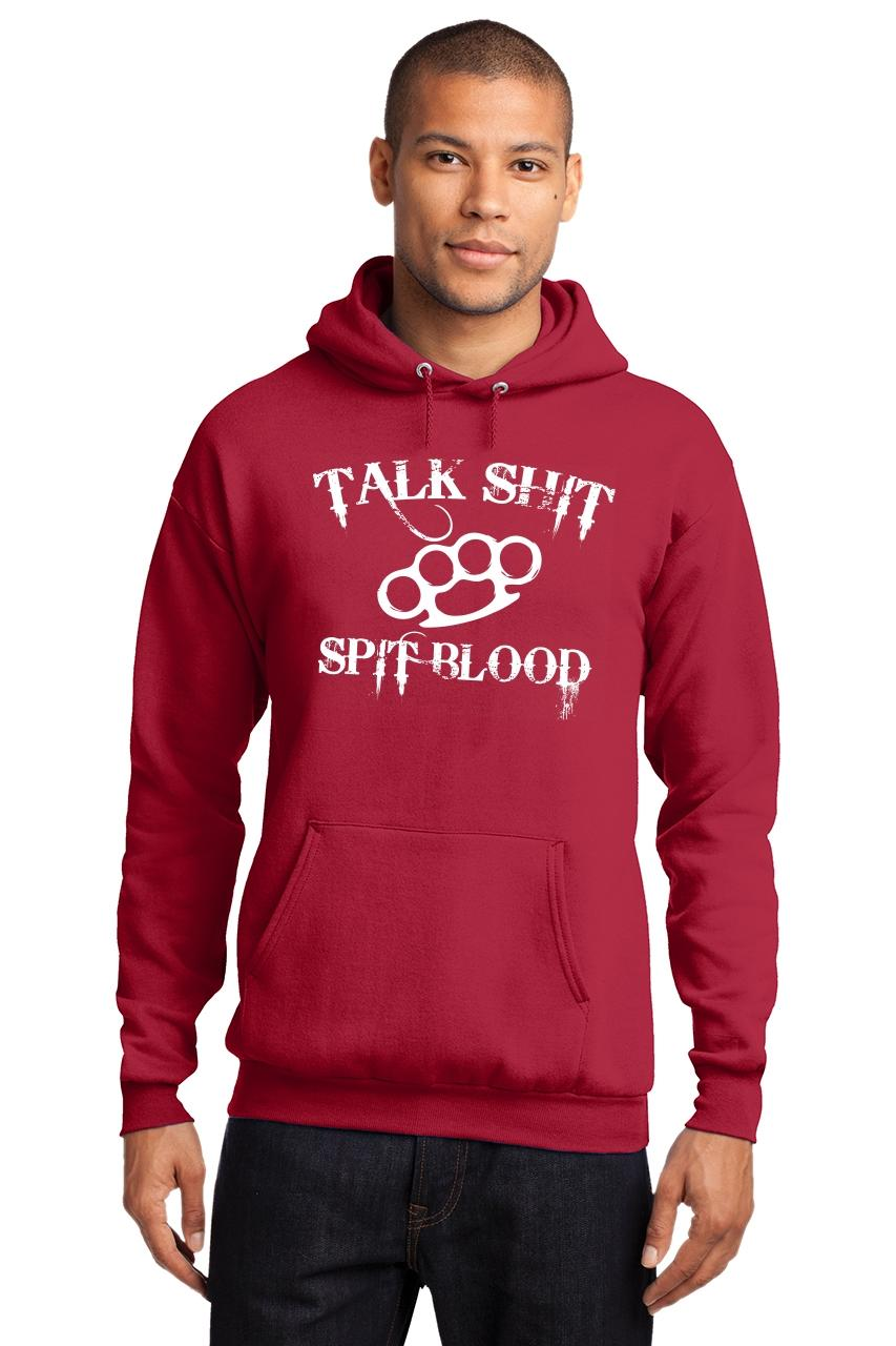 Mens-Talk-S-t-Spit-Blood-Hoodie-Gangster-Rap-Music-Movie-Sweatshirt thumbnail 19