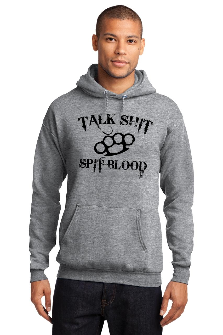 Mens-Talk-S-t-Spit-Blood-Hoodie-Gangster-Rap-Music-Movie-Sweatshirt thumbnail 22