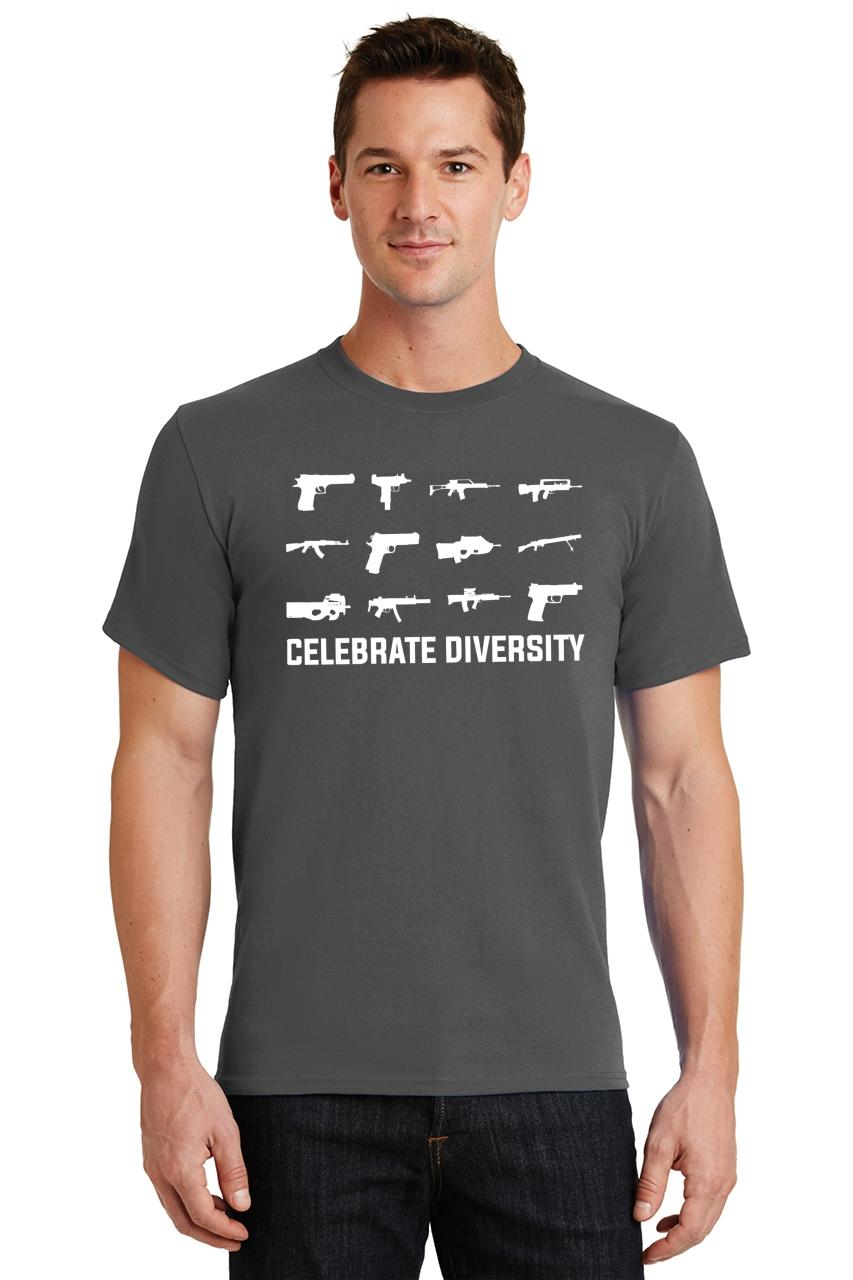 Celebrate-Diversity-Funny-Gun-Rights-T-Shirt-2nd-Amendment-Hunting-Tee thumbnail 39