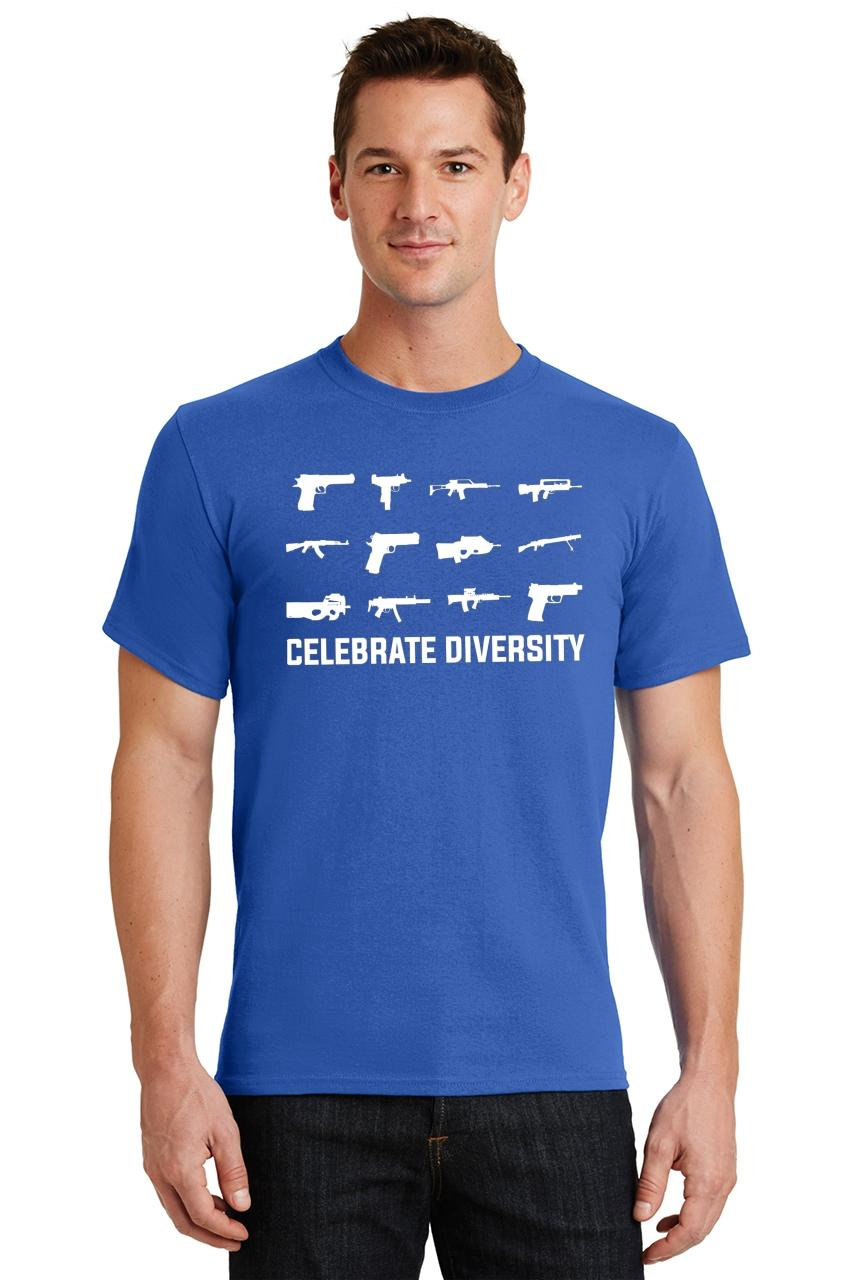 Celebrate-Diversity-Funny-Gun-Rights-T-Shirt-2nd-Amendment-Hunting-Tee thumbnail 33