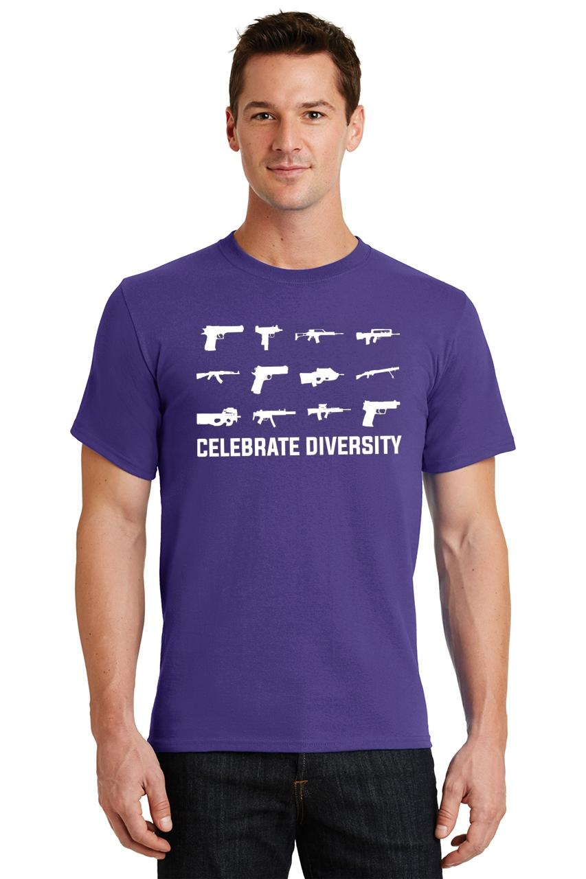 Celebrate-Diversity-Funny-Gun-Rights-T-Shirt-2nd-Amendment-Hunting-Tee thumbnail 45
