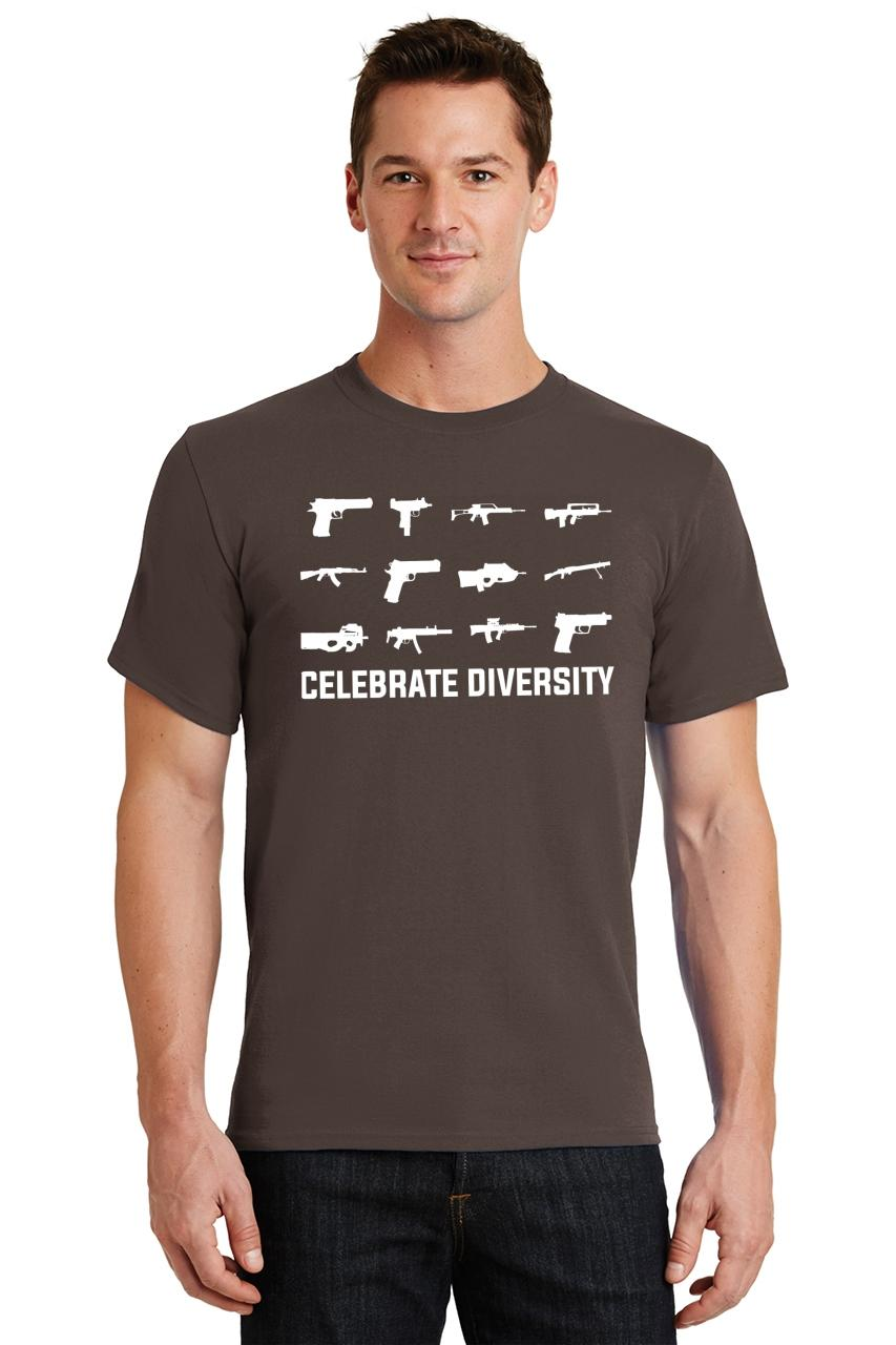 Celebrate-Diversity-Funny-Gun-Rights-T-Shirt-2nd-Amendment-Hunting-Tee thumbnail 36