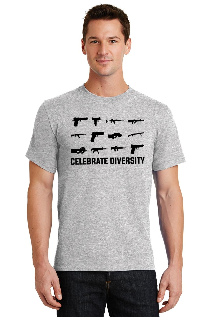 Celebrate-Diversity-Funny-Gun-Rights-T-Shirt-2nd-Amendment-Hunting-Tee thumbnail 9