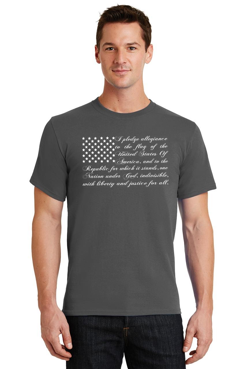 9ad788bfb01c8 Mens Pledge of Allegiance American Flag T-Shirt Usa American Pride ...