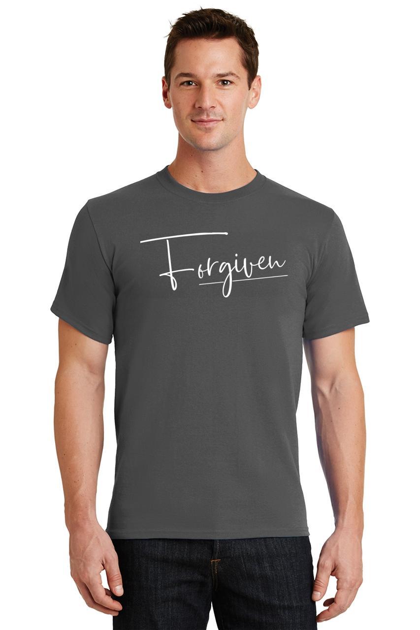 Mens-Forgiven-T-Shirt-Religious-Jesus-Christian-Shirt thumbnail 15