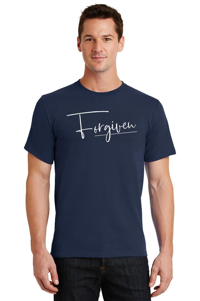 Mens-Forgiven-T-Shirt-Religious-Jesus-Christian-Shirt thumbnail 24