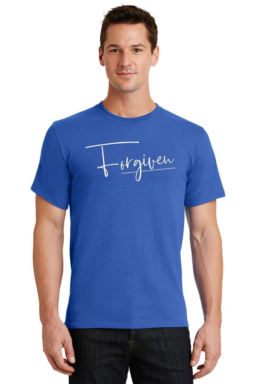 Mens-Forgiven-T-Shirt-Religious-Jesus-Christian-Shirt thumbnail 42