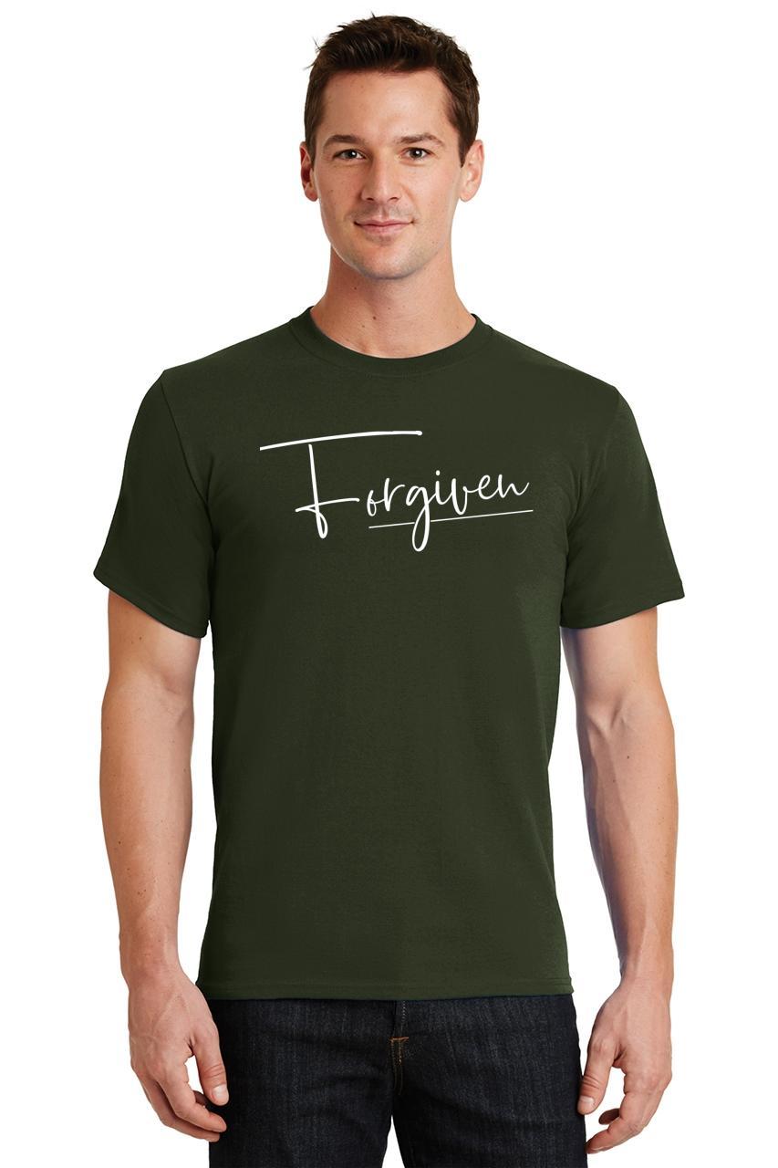 Mens-Forgiven-T-Shirt-Religious-Jesus-Christian-Shirt thumbnail 27