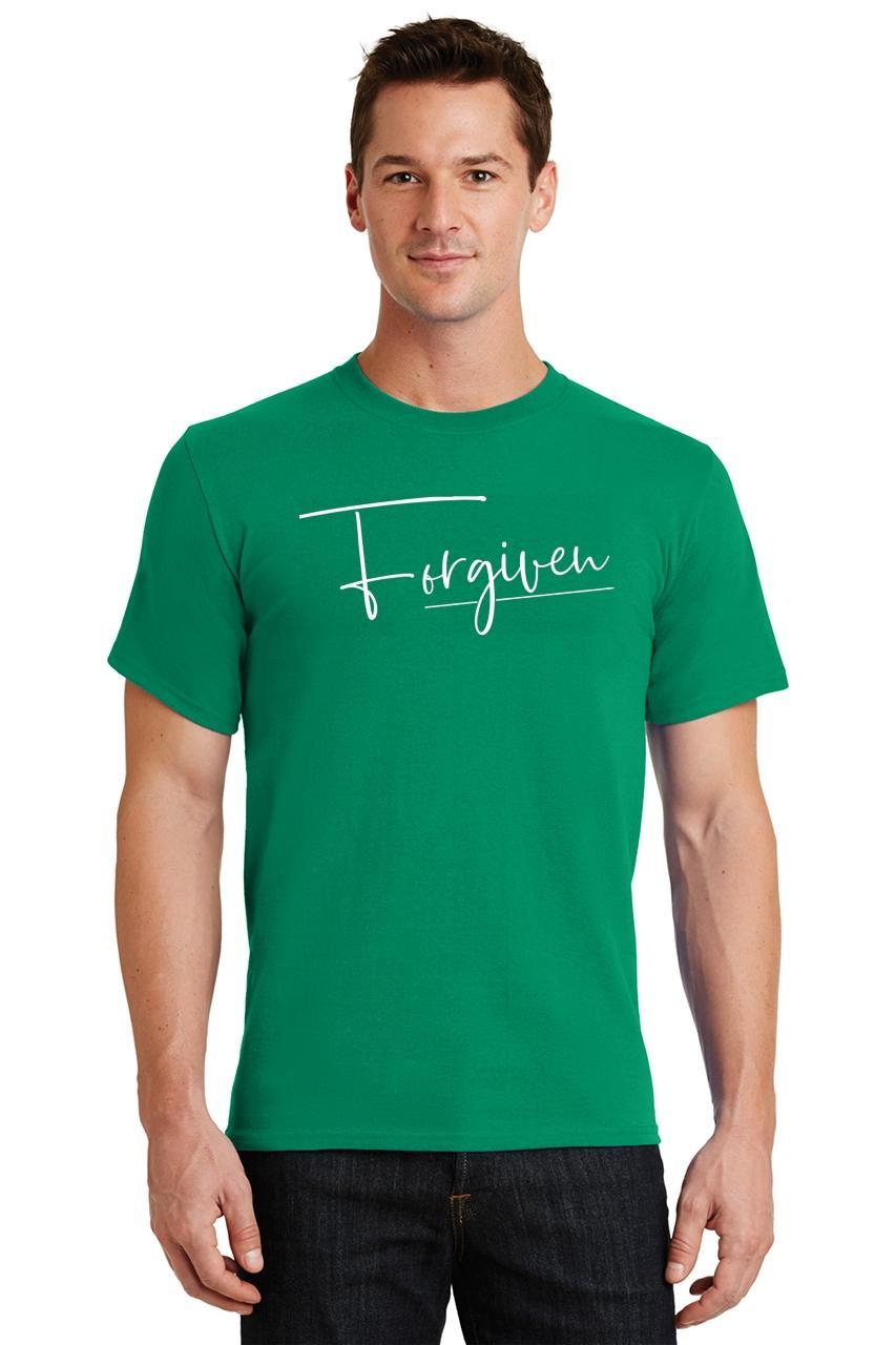 Mens-Forgiven-T-Shirt-Religious-Jesus-Christian-Shirt thumbnail 18