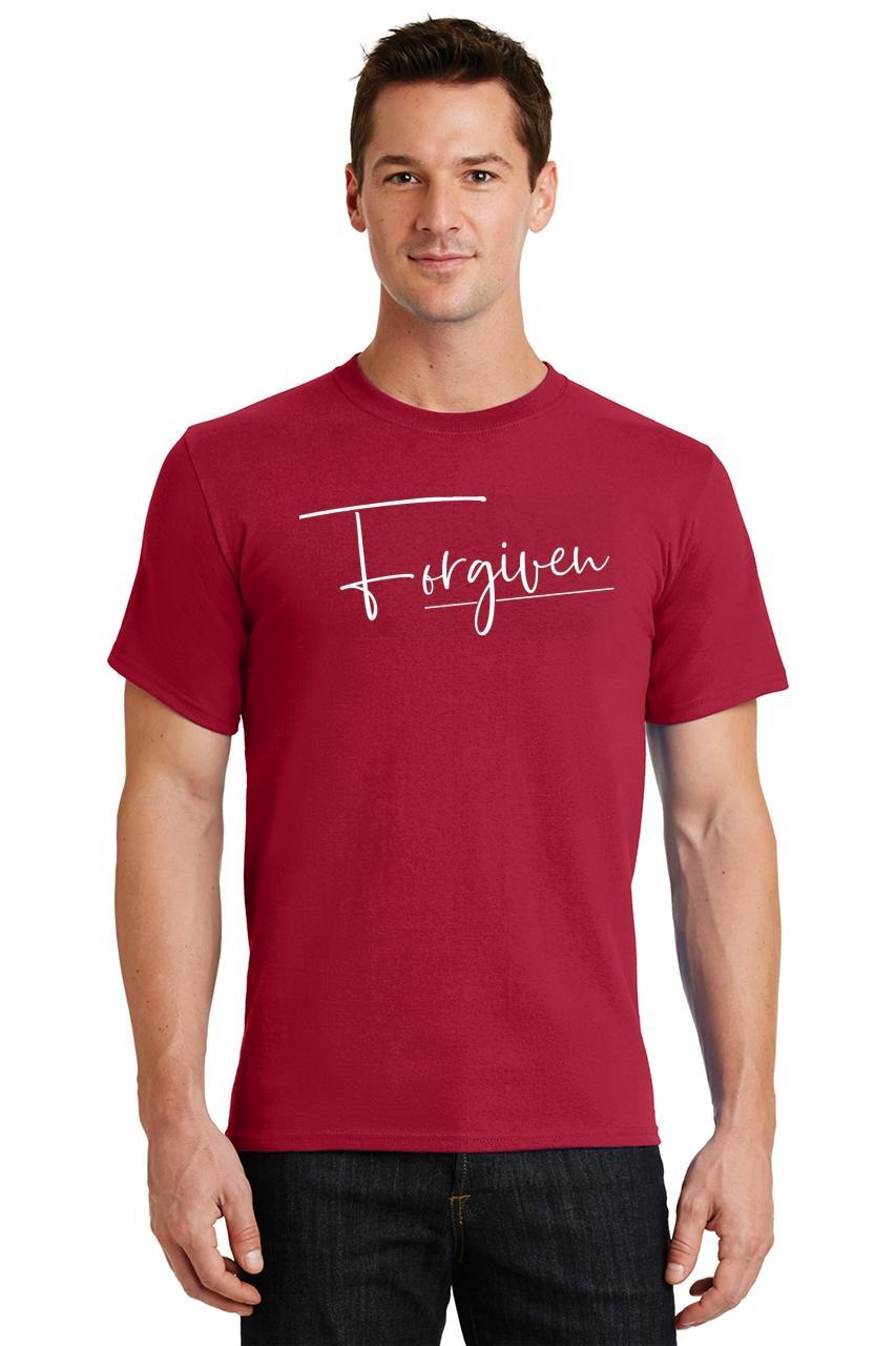 Mens-Forgiven-T-Shirt-Religious-Jesus-Christian-Shirt thumbnail 39