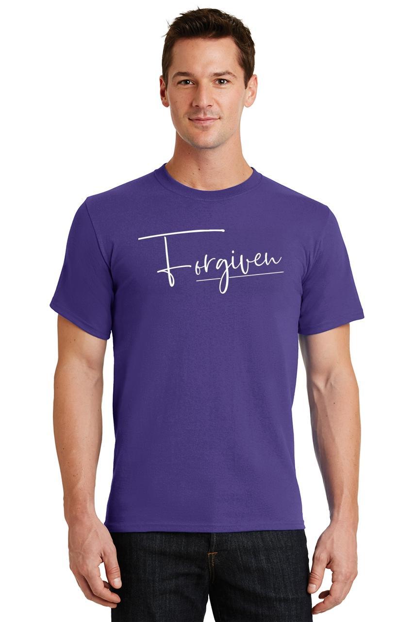Mens-Forgiven-T-Shirt-Religious-Jesus-Christian-Shirt thumbnail 36