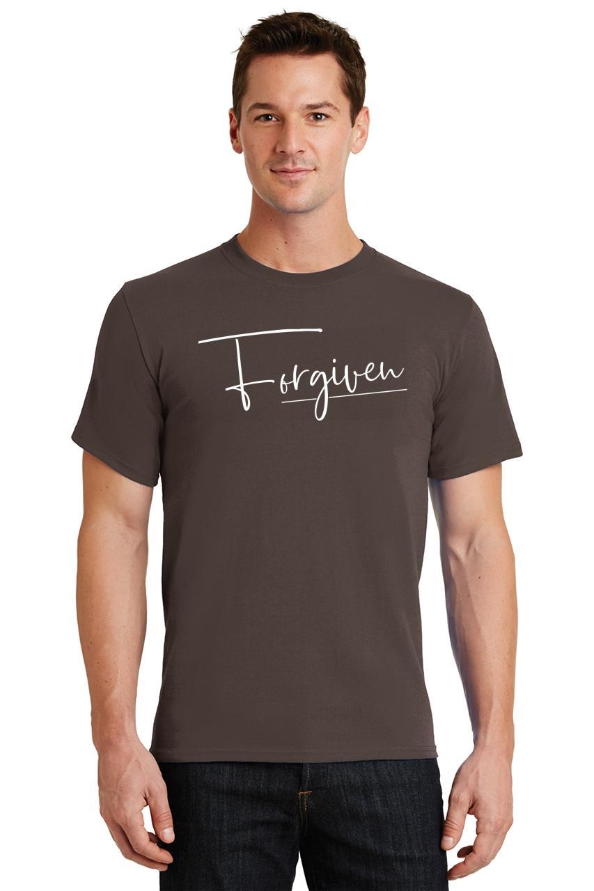Mens-Forgiven-T-Shirt-Religious-Jesus-Christian-Shirt thumbnail 12
