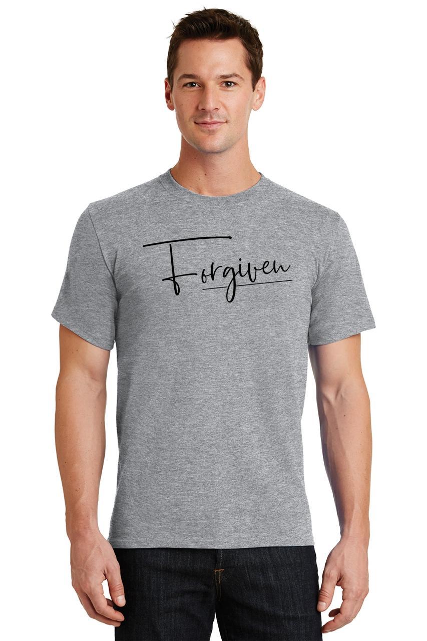 Mens-Forgiven-T-Shirt-Religious-Jesus-Christian-Shirt thumbnail 45