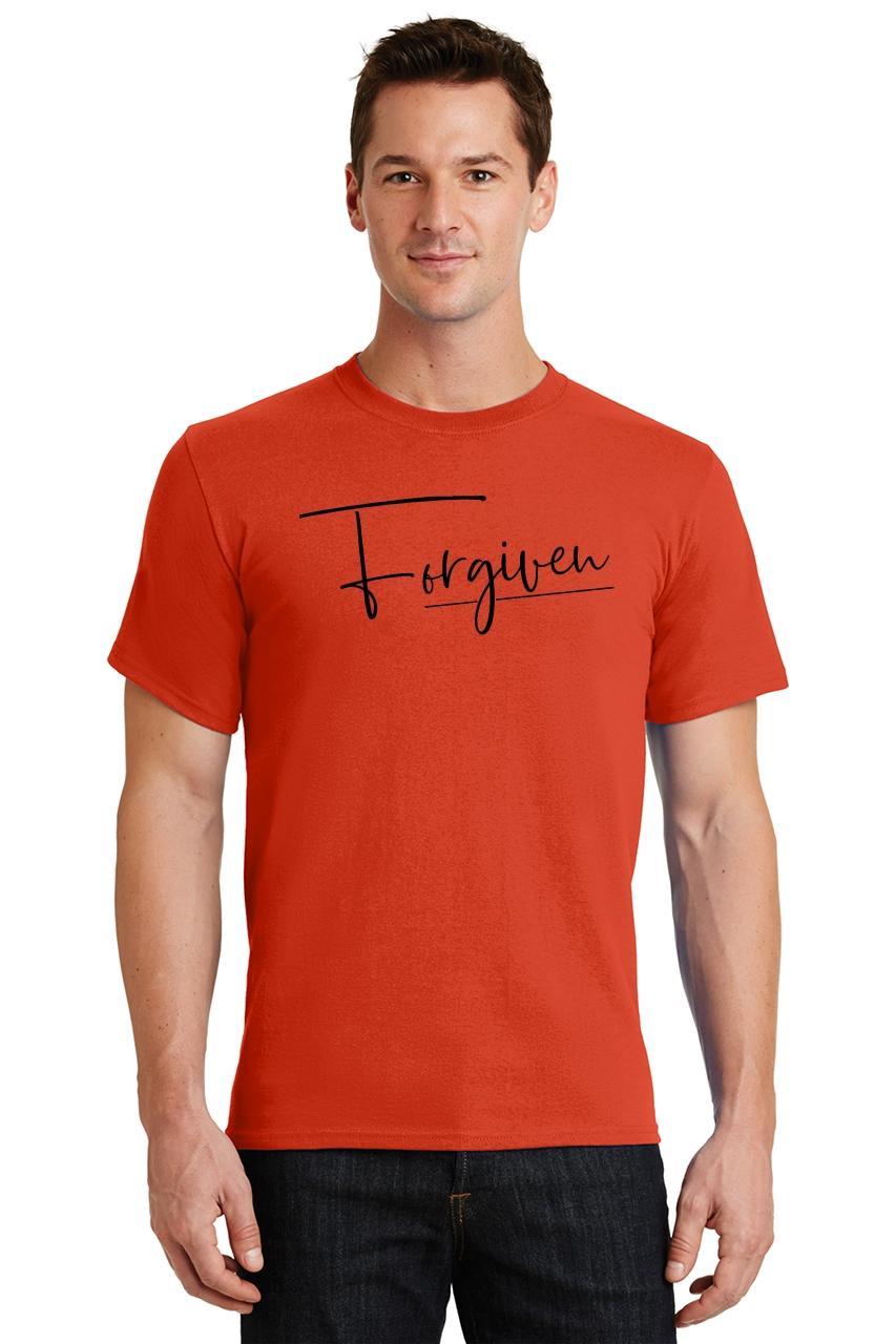 Mens-Forgiven-T-Shirt-Religious-Jesus-Christian-Shirt thumbnail 30