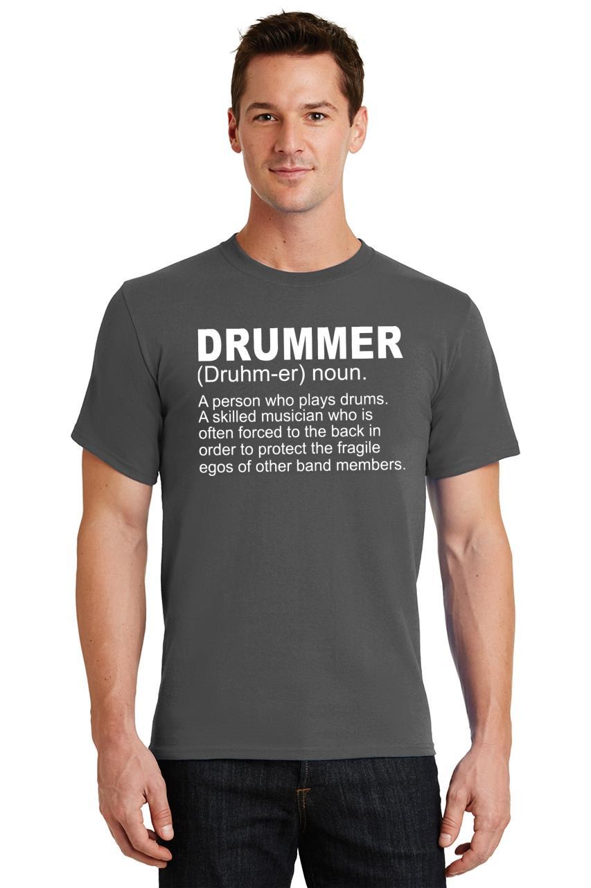 Mens-Drummer-A-Skilled-Musician-T-Shirt-Band miniatura 18
