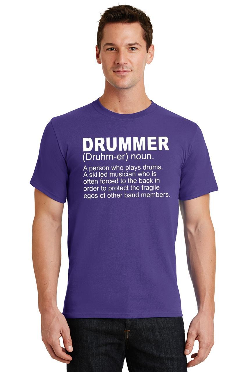 Mens-Drummer-A-Skilled-Musician-T-Shirt-Band miniatura 46