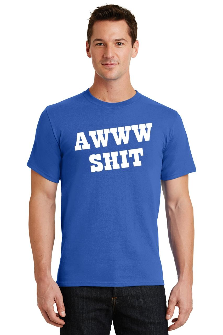 Mens-Aww-S-t-T-Shirt-Damn-Rude thumbnail 54