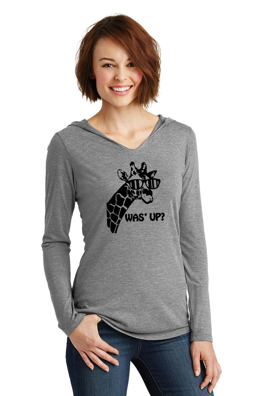 Ladies-Was-039-Up-Giraffe-Cute-Graphic-Animal-Shirt-Hoodie-Shirt thumbnail 12