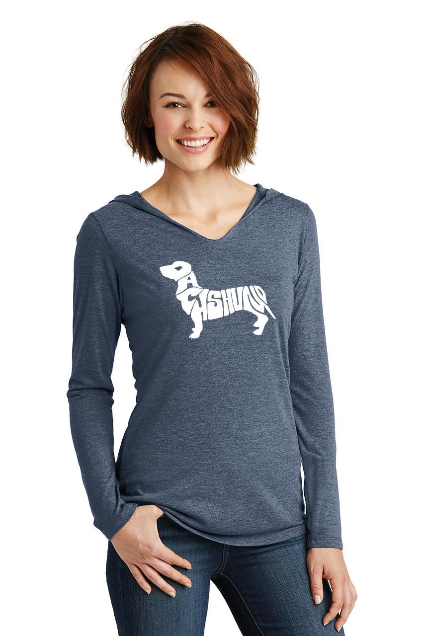 Ladies-Dachshund-Hoodie-Shirt-Dog-Animal-Graphic-T-Shirt thumbnail 15