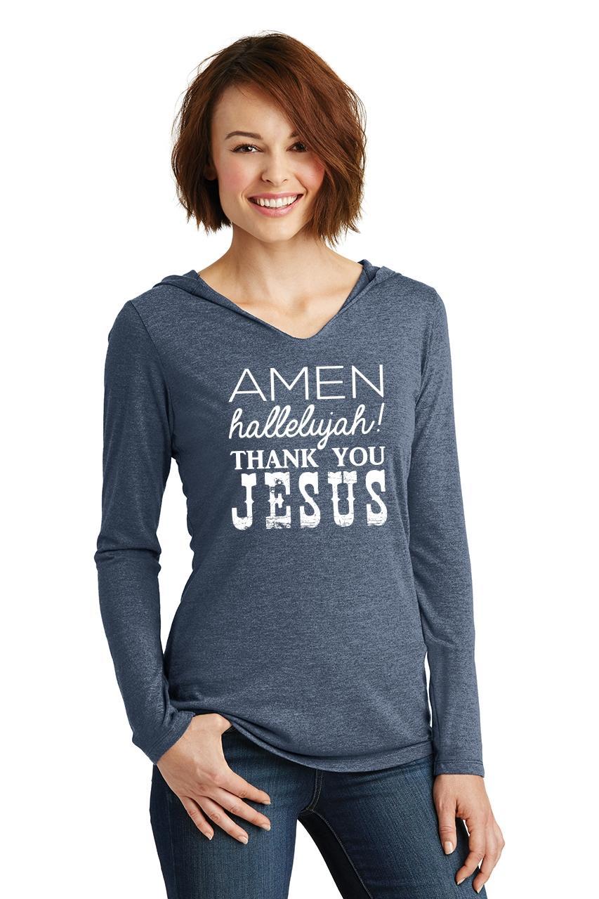 Ladies-Amen-Hallelujah-Thank-you-Jesus-Hoodie-Shirt-Religious-Christian-Shirt thumbnail 15