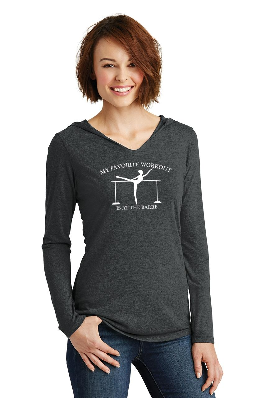 Ladies-Favorite-Workout-At-The-Barre-Hoodie-Shirt-Dance-Gym-Shirt miniatura 6