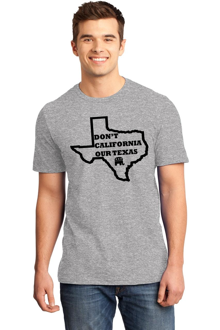 Mens-Don-039-t-California-Our-Texas-Soft-Tee-Republican-Cruz-Political-Shirt thumbnail 7