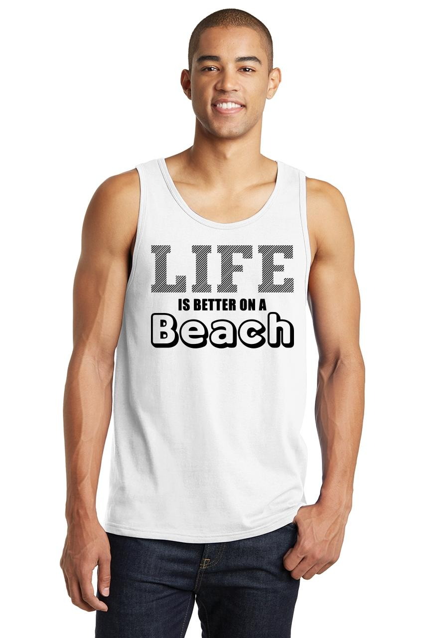 Tee Hunt Beach Please Muscle Shirt Funny Sunshine Glasses Summer Time Vacation Sleeveless