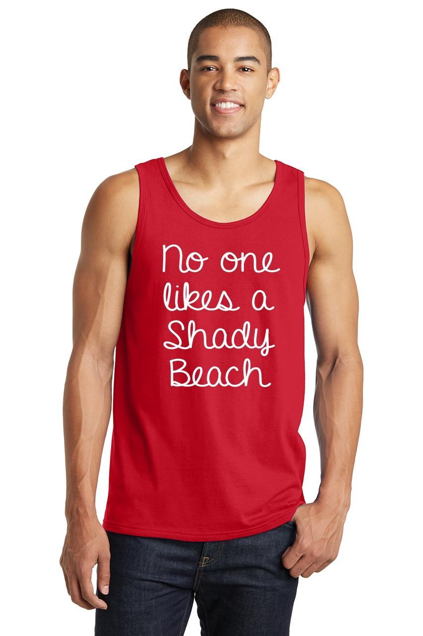 cb43e94b6a0bb7 Mens No One Likes A Shady Beach Tank Top Summer Vacation Shirt