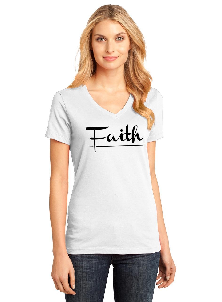 Ladies-Faith-V-neck-Tee-Religious-Christian-God-Shirt thumbnail 21