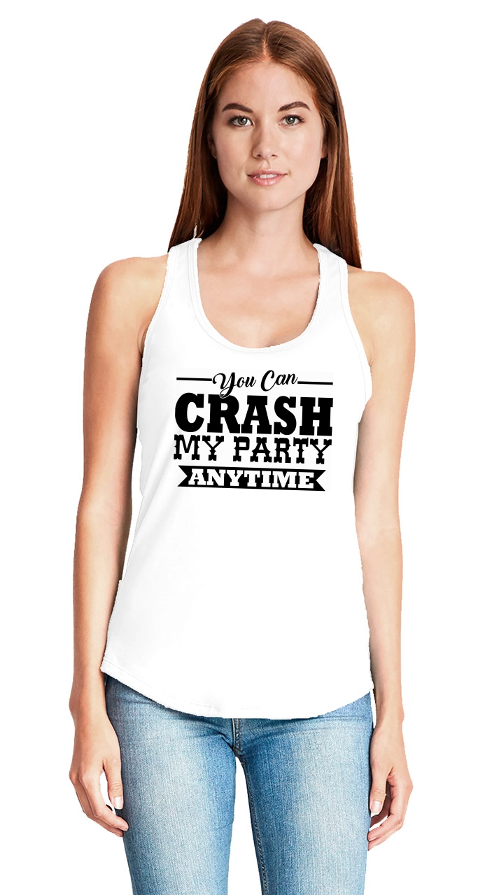 b5e3c298a3aa4d Crash My Party Anytime Ladies Tank Top Luke Country Song Music ...
