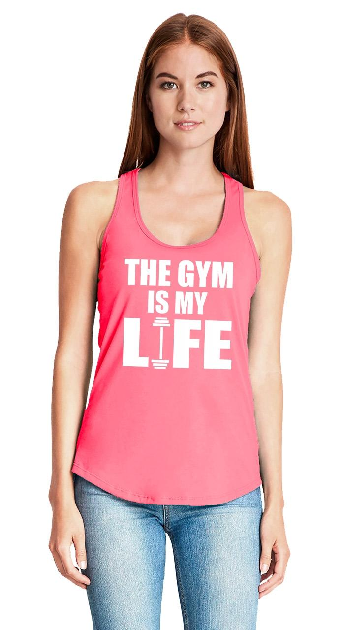 The-Gym-Is-My-Life-Ladies-Tank-Top-Workout-Gym-Fitness-Trainer-Gift-Racerback-Z6 thumbnail 27
