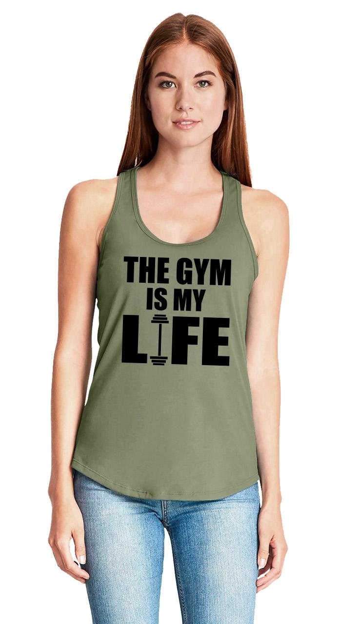 The-Gym-Is-My-Life-Ladies-Tank-Top-Workout-Gym-Fitness-Trainer-Gift-Racerback-Z6 thumbnail 33