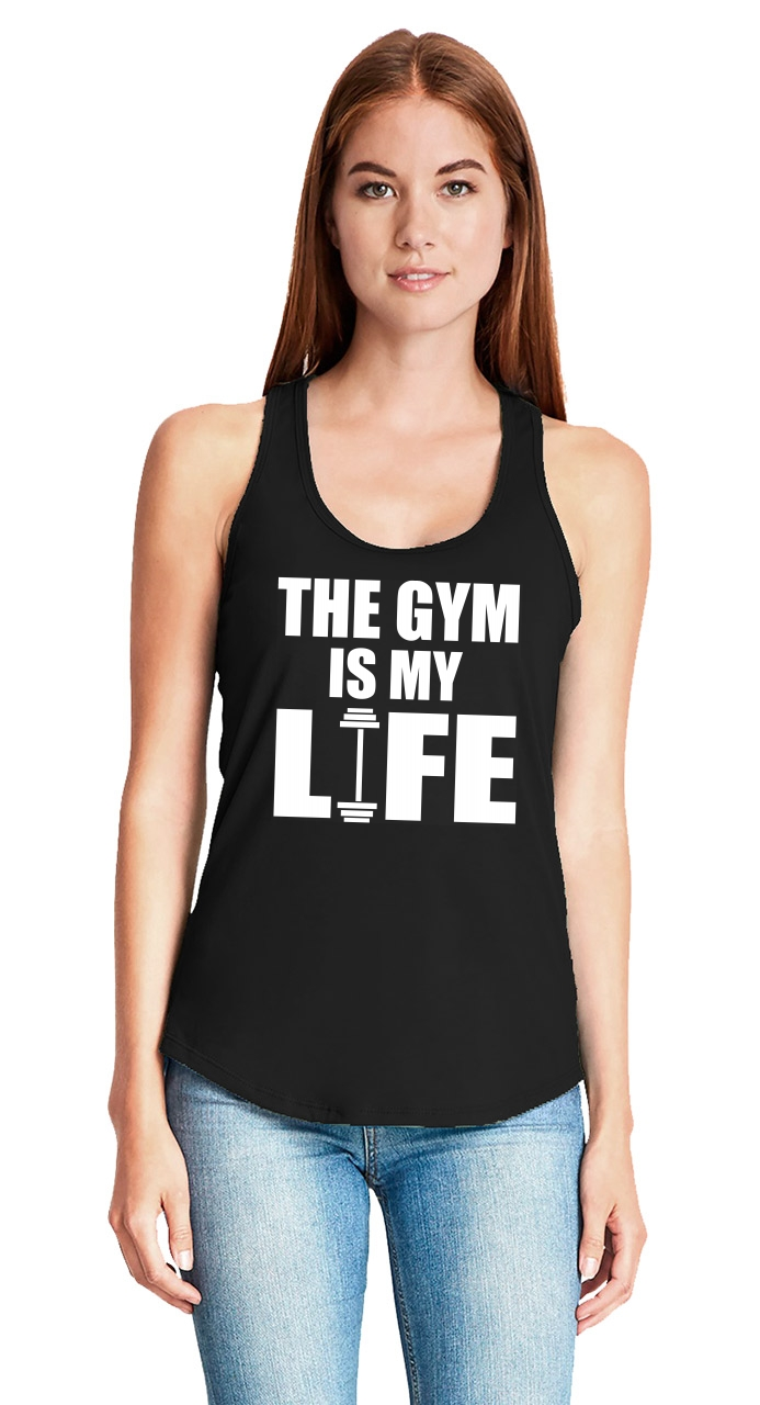The-Gym-Is-My-Life-Ladies-Tank-Top-Workout-Gym-Fitness-Trainer-Gift-Racerback-Z6 thumbnail 9