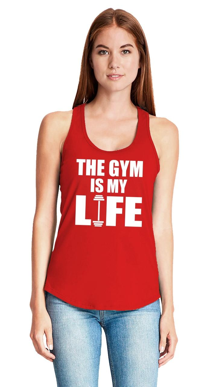 The-Gym-Is-My-Life-Ladies-Tank-Top-Workout-Gym-Fitness-Trainer-Gift-Racerback-Z6 thumbnail 12