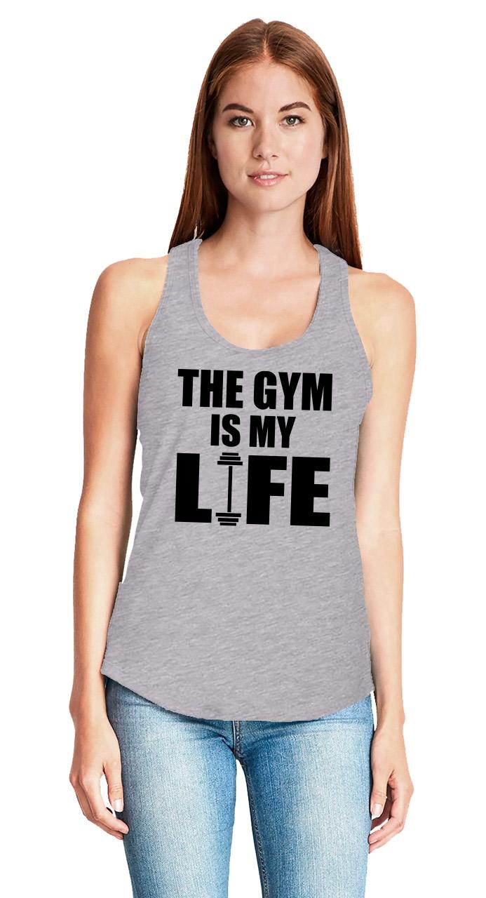 The-Gym-Is-My-Life-Ladies-Tank-Top-Workout-Gym-Fitness-Trainer-Gift-Racerback-Z6 thumbnail 18