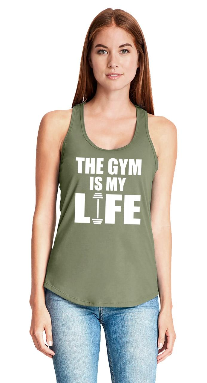 The-Gym-Is-My-Life-Ladies-Tank-Top-Workout-Gym-Fitness-Trainer-Gift-Racerback-Z6 thumbnail 30