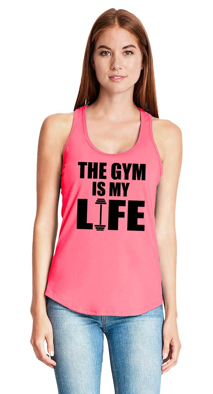 The-Gym-Is-My-Life-Ladies-Tank-Top-Workout-Gym-Fitness-Trainer-Gift-Racerback-Z6 thumbnail 24