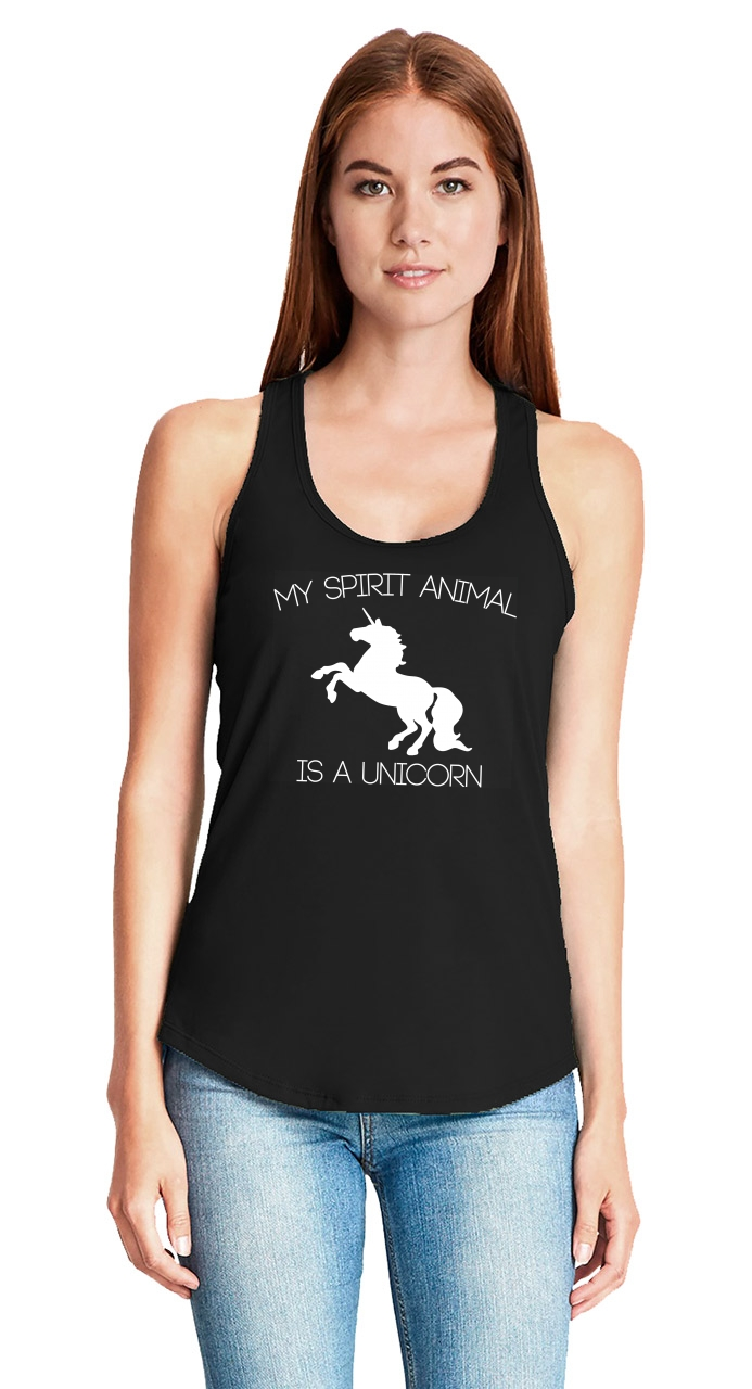 My-Spirit-Animal-Is-A-Unicorn-Funny-Ladies-Tank-Top-Unicorn-Lover-Gift-Tank-Z6 thumbnail 9