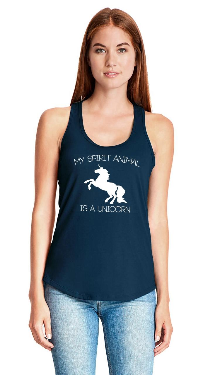 My-Spirit-Animal-Is-A-Unicorn-Funny-Ladies-Tank-Top-Unicorn-Lover-Gift-Tank-Z6 thumbnail 15