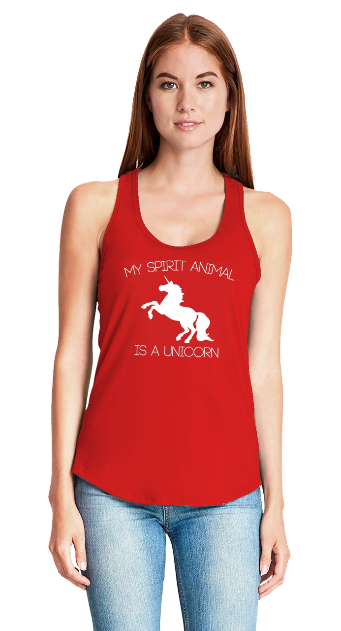 My-Spirit-Animal-Is-A-Unicorn-Funny-Ladies-Tank-Top-Unicorn-Lover-Gift-Tank-Z6 thumbnail 12