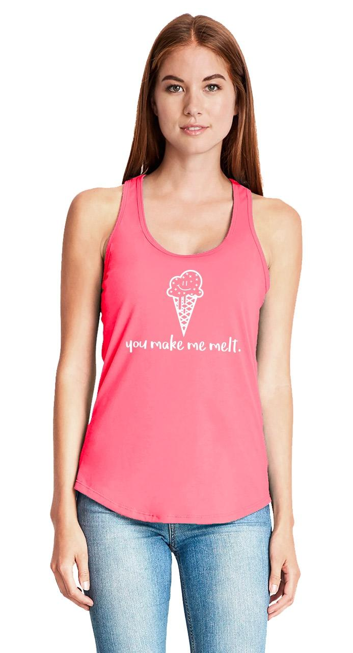 You-Make-Me-Melt-Ladies-Tank-Top-Valentines-Day-Gift-Ice-Cream-Graphic-Tee-Z6 thumbnail 27
