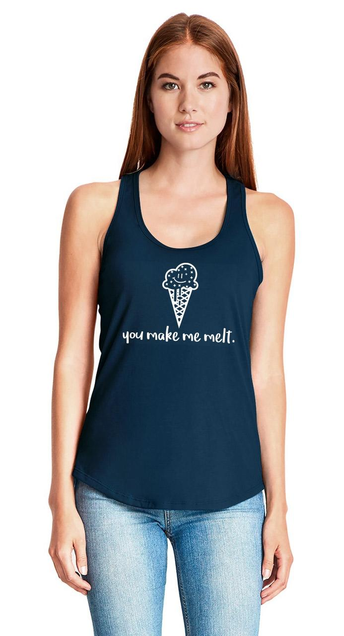 You-Make-Me-Melt-Ladies-Tank-Top-Valentines-Day-Gift-Ice-Cream-Graphic-Tee-Z6 thumbnail 15